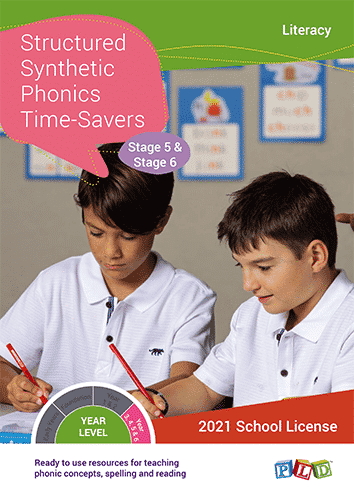 Structured Synthetic Phonics Time-Savers – Stage 5 & 6 (Subscription)